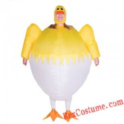 Adult Yellow Chicken Inflatable Blow Up Costume