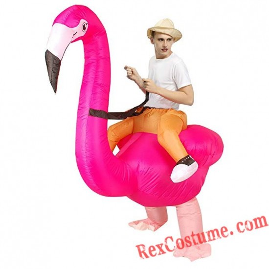 Adult Flamingo Bird Inflatable Blow Up Costume
