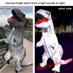 Adult Night Walker T Rex Dinosaur Inflatable Blow Up Costume