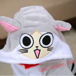 Cheese cat Kigurumi Onesie Pajamas Cosplay Costumes for Kids