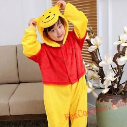 Winnie the Pooh Kigurumi Onesie Pajamas Cosplay Costumes for Kids