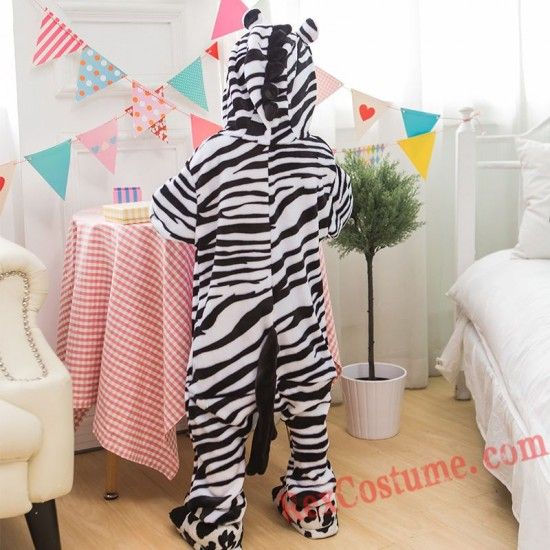 zebra Kigurumi Onesie Pajamas Cosplay Costumes for Kids