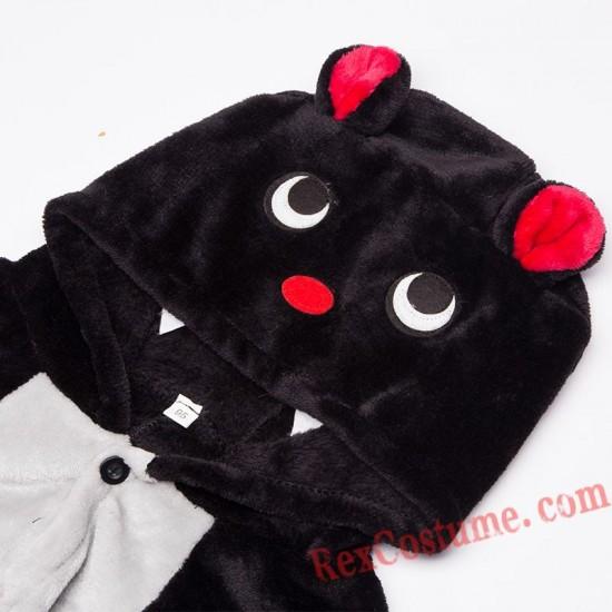 bat Kigurumi Onesie Pajamas Cosplay Costumes for Kids