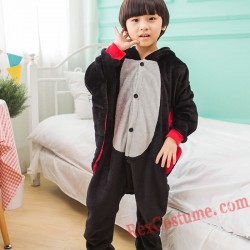 bat Kigurumi Onesie Pajamas Cosplay Costumes for Kids