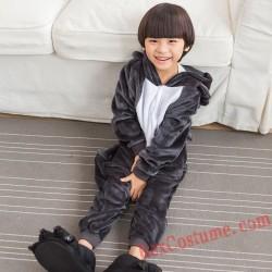 Big wolf Kigurumi Onesie Pajamas Cosplay Costumes for Kids