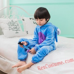 Blue donkey Kigurumi Onesie Pajamas Cosplay Costumes for Kids