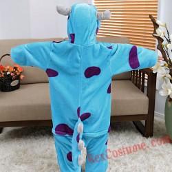 Blue cow Kigurumi Onesie Pajamas Cosplay Costumes for Kids