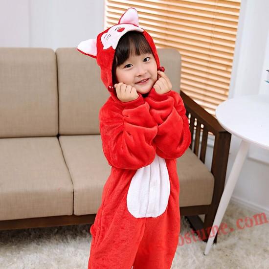 fox Kigurumi Onesie Pajamas Cosplay Costumes for Kids
