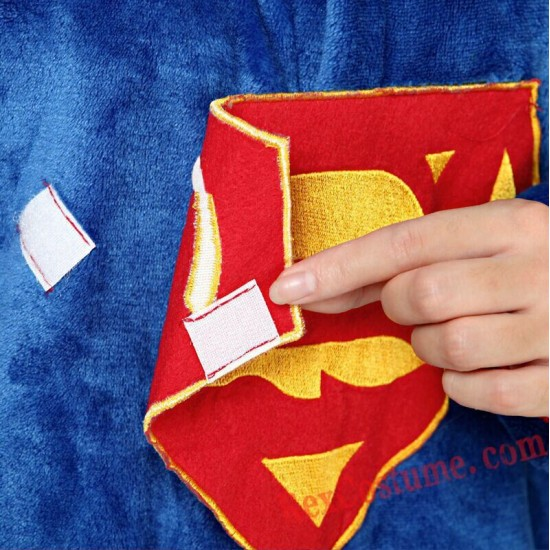 Adult Superman Kigurumi Onesie Pajamas Cosplay Costumes