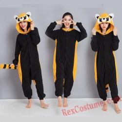 Adult Raccoon Kigurumi Onesie Pajamas Cosplay Costumes