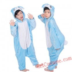 Blue rabbit Kigurumi Onesie Pajamas Cosplay Costumes for Kids