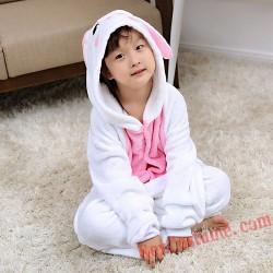 Pink rabbit Kigurumi Onesie Pajamas Cosplay Costumes for Kids