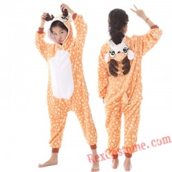 Deer Kigurumi Onesie Pajamas Cosplay Costumes for Kids
