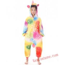 unicorn Kigurumi Onesie Pajamas Cosplay Costumes for Kids