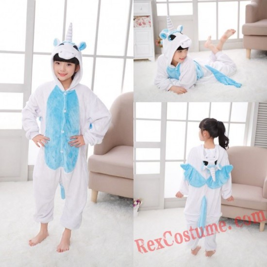 unicorn Kigurumi Onesie Pajamas Cosplay Costumes for Kids