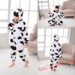 Cow Kigurumi Onesie Pajamas Cosplay Costumes for Kids