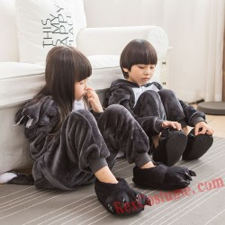 Big wolf Kigurumi Onesie Pajamas Cosplay Costumes for Kids