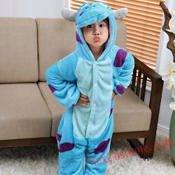 Blue cow Kigurumi Onesie Pajamas Cosplay Costumes for Kids