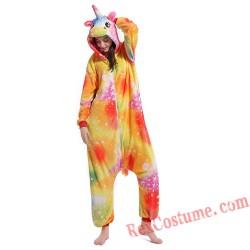 Adult unicorn Kigurumi Onesie Pajamas Cosplay Costumes