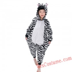 zebra Kigurumi Onesie Pajamas Cosplay Costumes for Kids