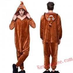 Adult Poop Kigurumi Onesie Pajamas Cosplay Costumes