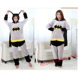 Adult Batman Kigurumi Onesie Pajamas Cosplay Costumes
