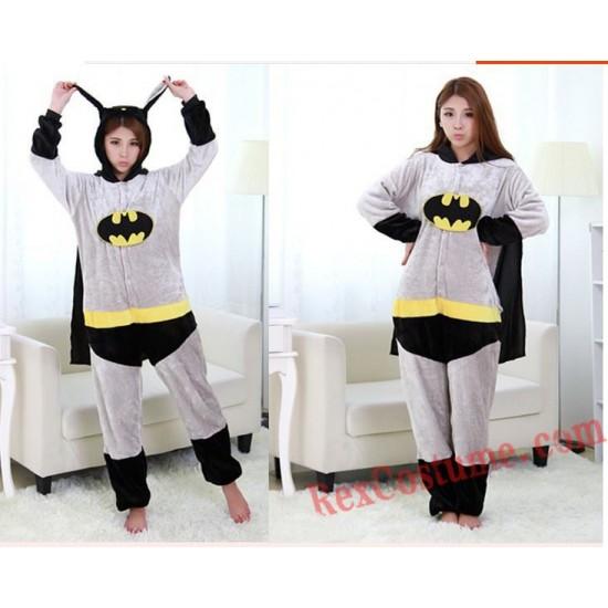 Adult Batman Kigurumi Onesie Pajamas Cosplay Costumes