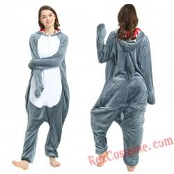 Adult Shark Kigurumi Onesie Pajamas Cosplay Costumes