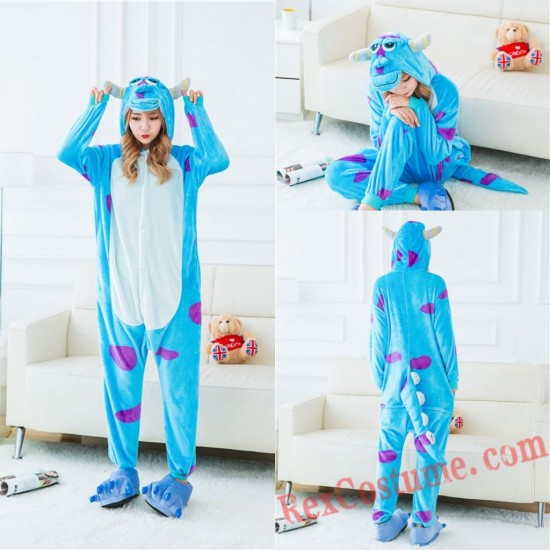Adult Blue cow Kigurumi Onesie Pajamas Cosplay Costumes