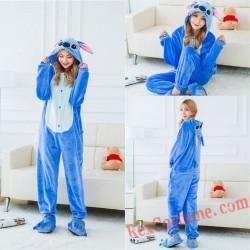 Adult Stich Kigurumi Onesie Pajamas Cosplay Costumes