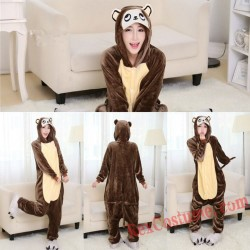 Adult Brown monkey Kigurumi Onesie Pajamas Cosplay Costumes