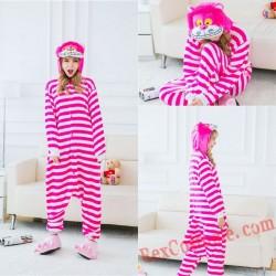 Adult Cheshire Cat Kigurumi Onesie Pajamas Cosplay Costumes