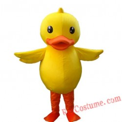 Yellow Duck Mascot Costume For Adults