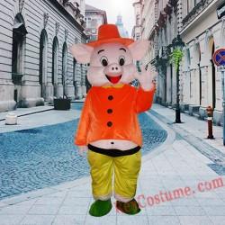 Happy Pig Mascot Costume For Adults