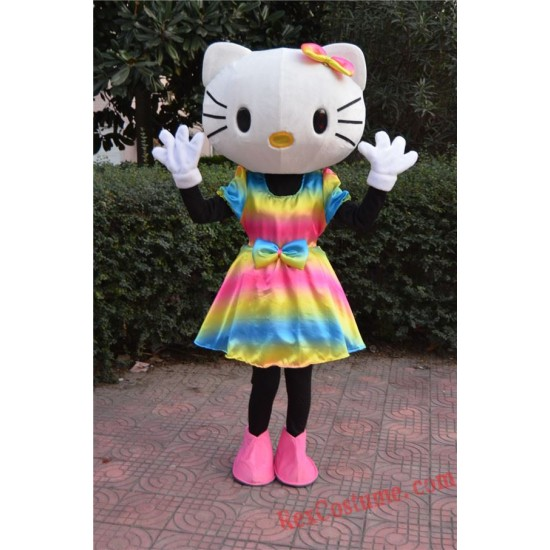 Hello Kitty Cat Mascot Costume For Adults