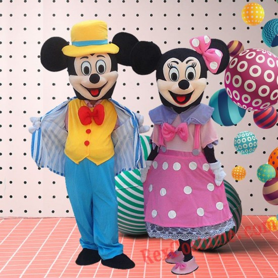 Disney Mickey Minnie Mouse Mascot Costume For Adults