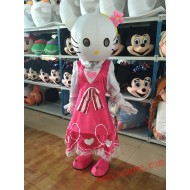 Hellokitty Cat Mascot Costume For Adults
