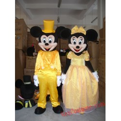 Disney Mickey Minnie Mouse Wedding Mascot Costume For Adults