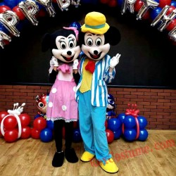 Disney Minnie Mickey Mouse Mascot Costume For Adults