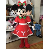 Disney Christmas Mickey Minnie Mouse Mascot Costume For Adults