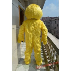 Yellow Sesame Street Mascot Costume For Adults