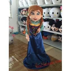 Frozen Anna Princess Mascot Costume For Adults