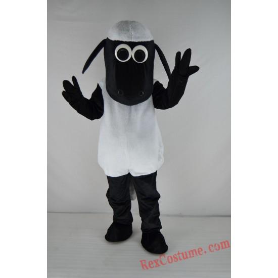 Black Sheep Shawn Mascot Costume For Adults