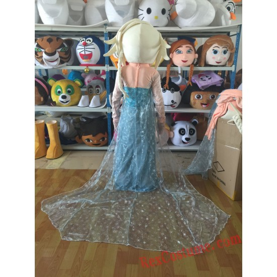 Frozen Princess Elsa Mascot Costume For Adults