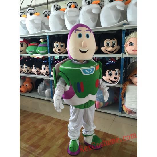 Buzz Light Boy Mascot Costume For Adults