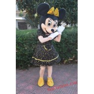 Disney Gold Minnie Mouse Mascot Costume For Adults