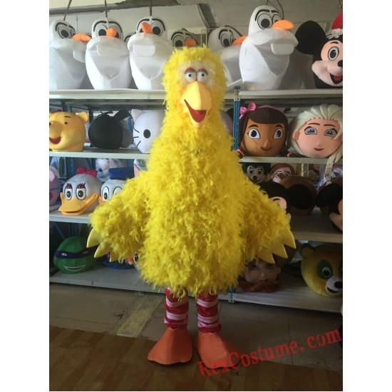 Sesame Street Yellow Bird Mascot Costume For Adults