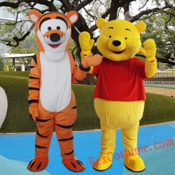 Winnie The Pooh Tigger Mascot Costume For Adults