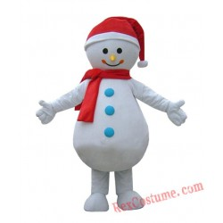 Adult Snowman Mascot Costumes for Christmas