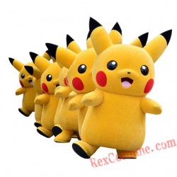 Deluxe Pikachu Mascot Costume Cartoon Character Costumes